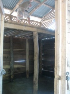 The loft and feed room where we put more beds.